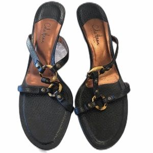 Cole Haan Collective Womens Black Sandals Size 9.5